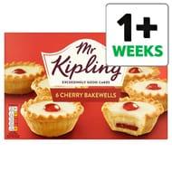 HALF PRICE Mr Kipling Cherry Bakewells 6 Pack
