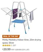 AMAZON DEAL of the DAY: Minky Multidry Indoor Airer, 25m Drying Space