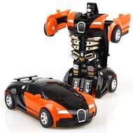 Transforming Robot Car Toy Kids Game Gift Sound Toy Indoor Lights
