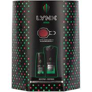 Lynx Africa Duo with Manwasher, Body Wash and Body Spray 3 Piece Gift Set
