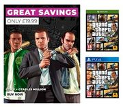 GRAND THEFT AUTO v with GTA $1.25M - PS4 / Xbox One £19.99 FREE DELIVERY