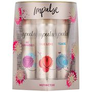 Impulse Body Fragrance Gift Set, Instinctive, 4-Piece