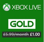 Join Xbox Live Gold for £1