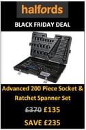 HALFORDS BLACK FRIDAY DEAL: 200 Piece Socket & Ratchet Spanner Set. save £235