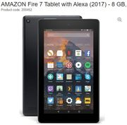 AMAZON Fire 7 Tablet with Alexa (2017) - 8 GB, Black - save £20 + FREE DELIVERY