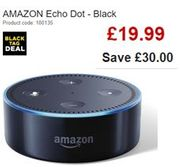 AMAZON Echo Dot - Black £19.99 save £30