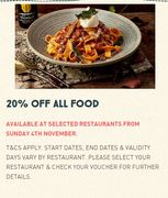 20% off All Food