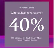Black Friday Must-Haves: 40% Off