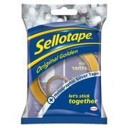 HALF PRICE Sellotape 50M with 5M Silver Roll/ Gold Roll