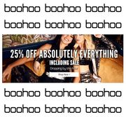 Boohoo Womenswear - 25% off Absolutely Everything, INCLUDING SALE!