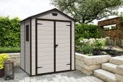 *TODAY ONLY* Keter Manor Outdoor Plastic Garden Shed, Beige, 6 X 5 Ft