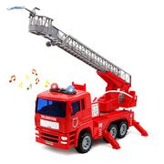 Electric Fire Rescue Vehicle with Lights Water Pump for Kids Boy Girls