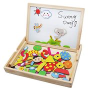 £8.29 for Wooden Toys Magnetic Jigsaw Puzzles Kids Drawing Board Game