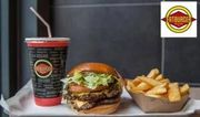 Burger, Side and Bottomless Drink for up to Four with Code FROM FAT BURGERS