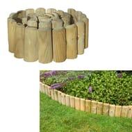 Grange Outdoor Garden Log Roll Edging Wooden 1.8m X 45cm