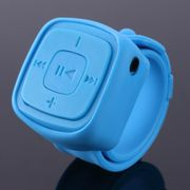 Mini Sport MP3 Music Player Wrist Watch Blue