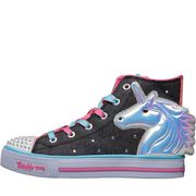 SKECHERS Girls Unicorn Twinkle Toes Hi Tops Grey
