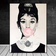 Audrey Hepburn Canvas Paint Wall - Various Sizes