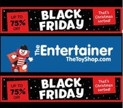 BLACK FRIDAY TOY SALE at the Entertainer - up to 75% OFF