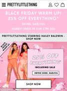 Black Friday at Pretty Little Thing- 25% off Everything*