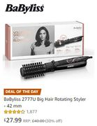 MONDAY DEAL OF THE DAY: BaByliss Big Hair Rotating Styler - 42 mm