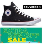 Extra 25% off Sale Prices Now at Converse
