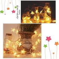 Home Garden Christmas Decoration Star Pendant LED Light