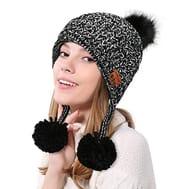 Bluetooth Beanie Hat Knit Women Warm Winter Cap