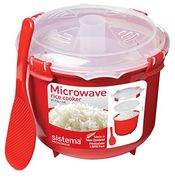 Sistema Microwave Rice Cooker, 2.6 L - Red/Clear Only £6.65
