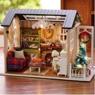 DIY Christmas Miniature Dollhouse Kit @TomTop