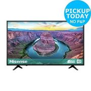Hisense H43AE6100UK 43 Inch 4K Ultra HD HDR Smart WiFi LCD TV - Black