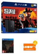 PS4 Pro 1TB + Red Dead Redemption 2 + Elder Scrolls Online Morrowind NOW TV