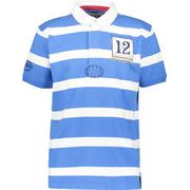 LAZY JACKS Blue & White Striped Polo Shirt