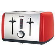 Breville VTT759 Colour Collection 4-Slice Toaster, Red [Energy Class A]