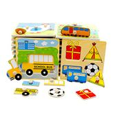 Colorful Puzzle Toddler Early Educational Toy Wooden Puzzle