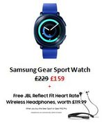 Samsung Gear Sport Watch £70 OFF + FREE JBL HEADPHONES WORTH £119.99