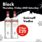 TWO 70cl Bottles of Smirnoff Vodka for ONLY £20!