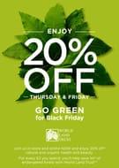 20% off Go Green for Black Friday