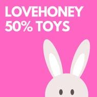 LoveHoney up to 50% off Toys, Lingerie, Bondage