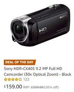 Sony HDR-CX405 9.2 MP Full HD Camcorder (30x Optical Zoom)