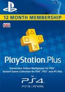 12 Month Playstation plus (PS+) UK -