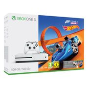 Xbox One S 500GB Console (White) with Forza Horizon 3 and Hot Wheels