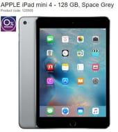 SAVE £100 - APPLE iPad Mini 4 - 128 GB, Space Grey