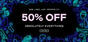50% off Everything & Free next Day Delivery