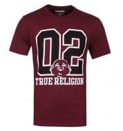 True Religion Varsity Buddha Burgundy T-Shirt