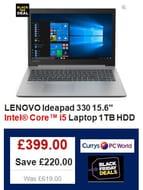 "£220 off LENOVO Ideapad 330 15.6"" i5 Laptop. Fast Computing with the Latest Tech"