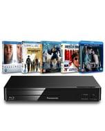 Panasonic: Blu-Ray Player + 5 Blu-Ray Bundle