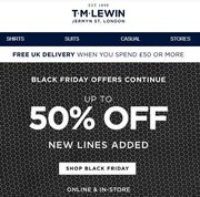 T M LEWIN Black Friday Deals - up to 50% OFF
