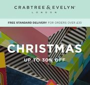 Love Crabtree & Evelyn? up to 30% off + Extra 10% off Selected
