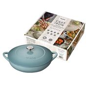 Ends at Midnight! Denby Cast Iron Shallow Casserole, Pavillion, 30 Cm